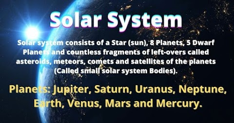 Solar System - Sun, planets, asteroids, meteors, comets and satellites