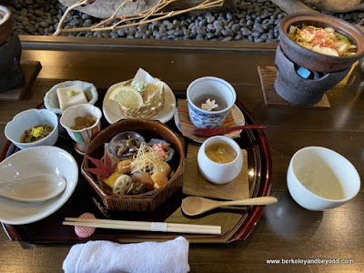 set meal at Yamabuki restaurant near Zenkoji Temple in Nagano City, Japan