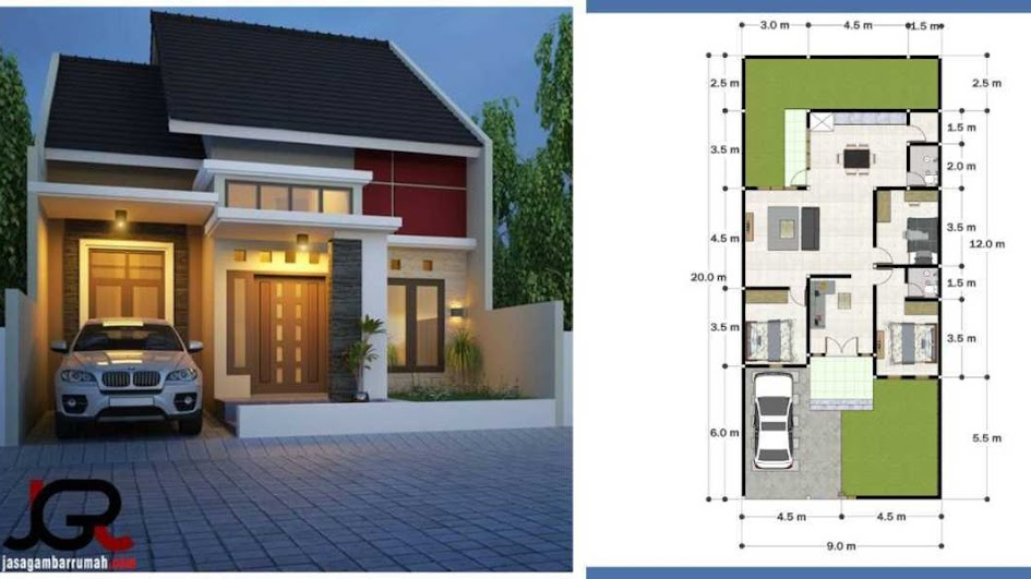 Rumah Minimalis Ukuran 9x12 1 Lantai
