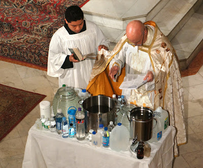Image result for institute christ king epiphany water blessing