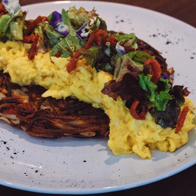 Omelette Lapcheong Rosti
