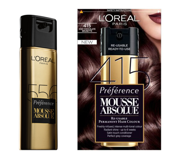 Unlike Regular Dyes And Foams That You Mix Up Yourself Mousse Absolue Comes Packaged In A Nifty Gold Bottle Which Contains Two Chambers One For The