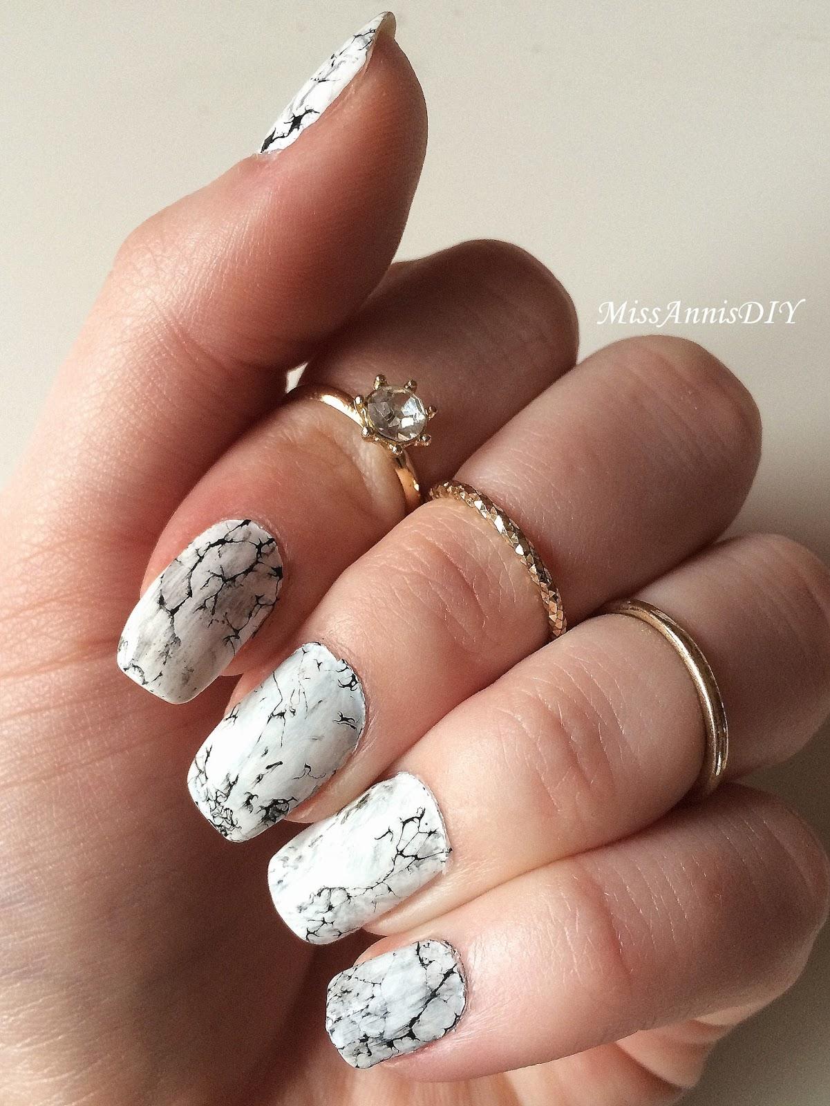 Miss Anni\'s DIY: Marmor Nägel