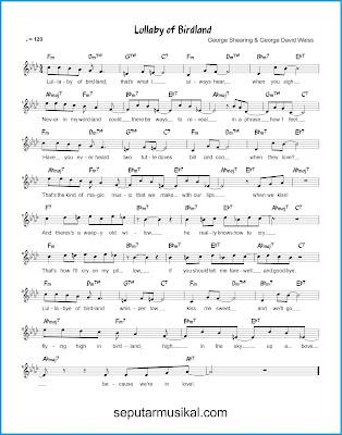 Lullaby of Birdland chords jazz standar