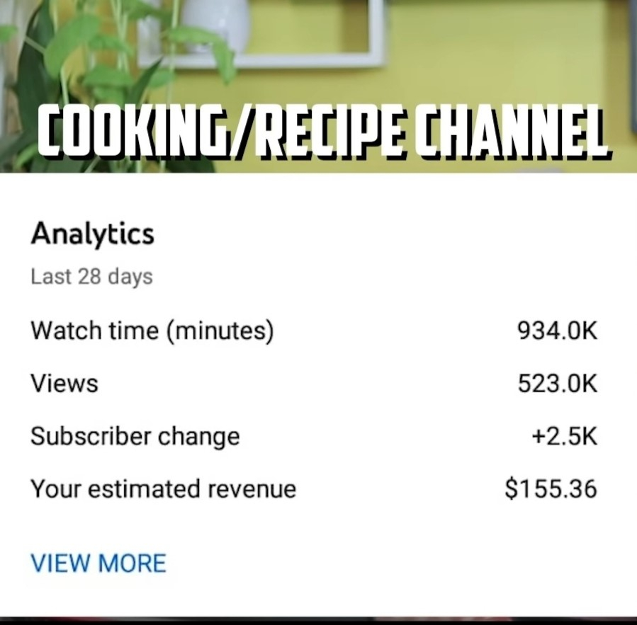 How Much does YouTube Pay You for 1 Million Views on cooking channel