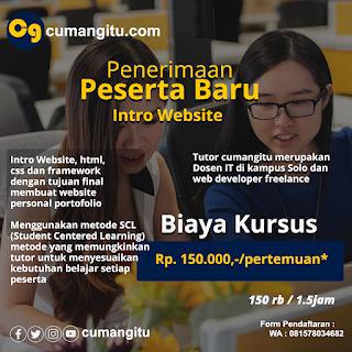 Pembuatan website Kursus PRIVAt di SOlo