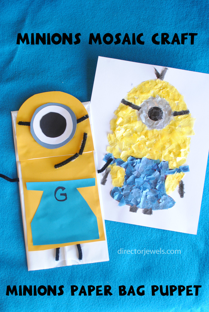 Minions Preschool Crafts | Minions Despicable Me Party Ideas at directorjewels.com