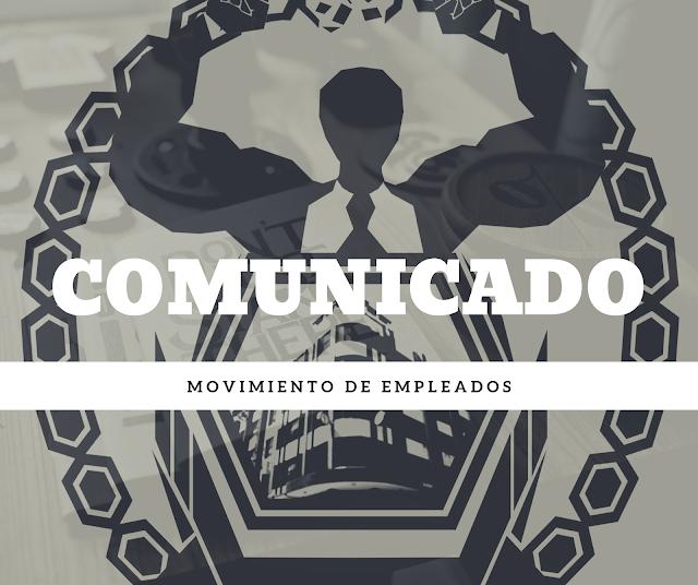 Comunicado del Movimiento de Empleados de la Corte de Cuentas corrupción administrativa de la presidenta de la CCR