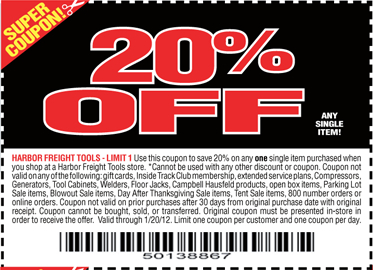 Harbor Freight 20 Off Coupon Printable 2018 American Eagle