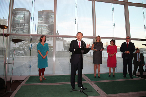 Queen Maxima opens North Delegates' Lounge at United Nations building in New York City