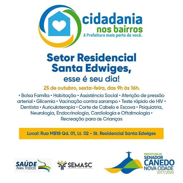 "Senador Canedo: ""Cidadania nos Bairros"" chega ao Santa Edwiges"