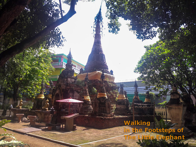 Old Chedi at the Wat Chom Sawan in Phrae, North Thailand