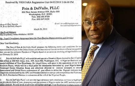 Atiku Payment to US Firm To Unseat Buhari