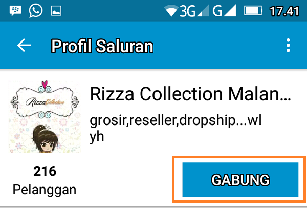 Gabung Grup Rizza Collection Malang