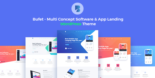 Bufet Multi Concept Software App Landing Responsive WordPress Themes