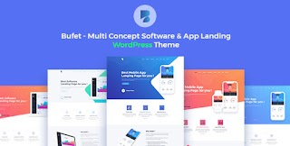 Bufet Multi Concept Software App Landing Responsive WordPress Themes