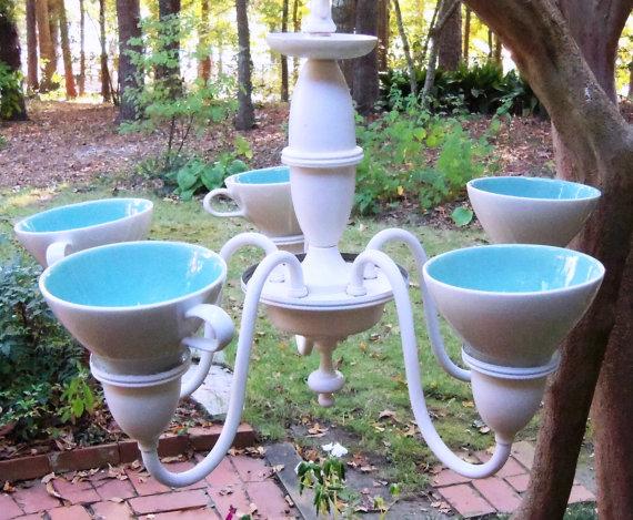 Repurposed Upcycled Revised Indoor Outdoor Chandeliers