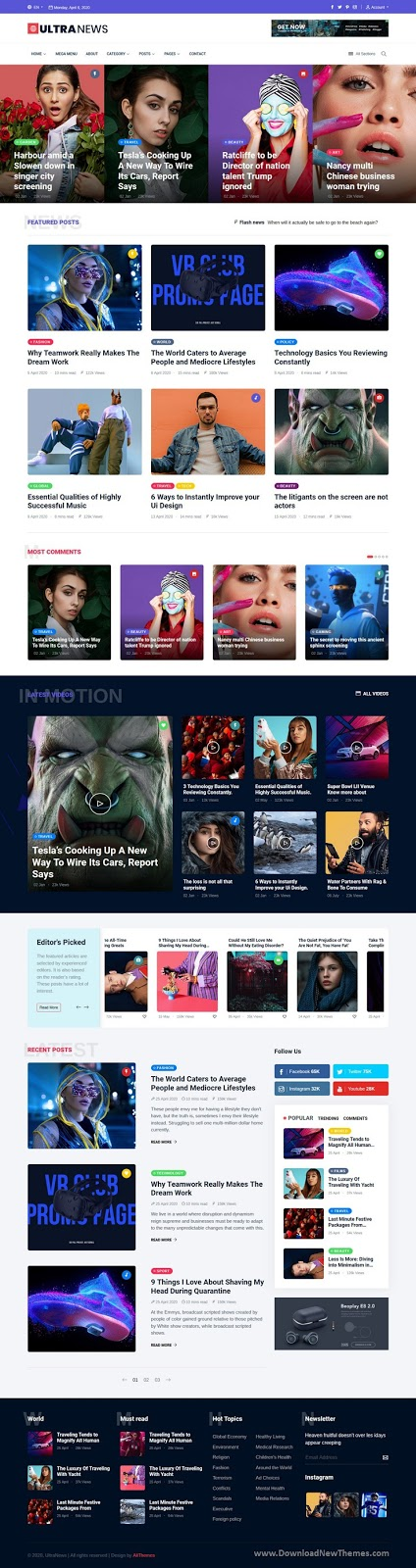 Best Magazine Bootstrap Template