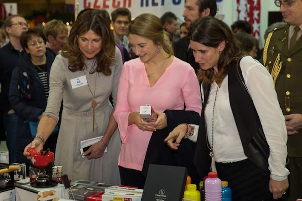 Grand Duchess Maria Teresa and Hereditary Grand Duchess Stéphanie were accompanied by Prime Minister Xavier Bettel