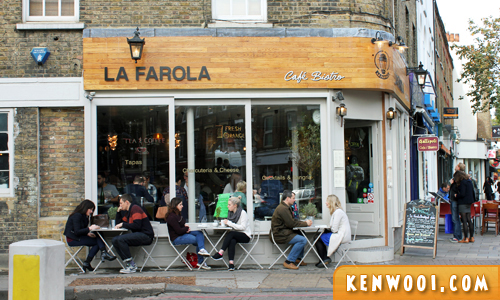 la farola cafe london