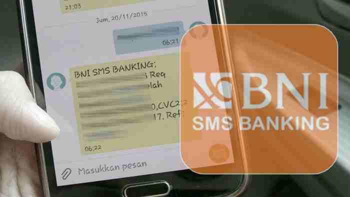 Cara Mendaftarkan Nomor HP Untuk Transaksi BNI SMS Banking