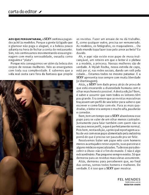 Fotos de Mylah Rocha nua pelada na Revista Sexy