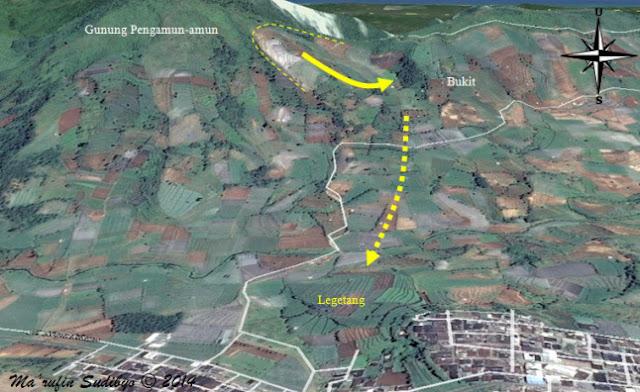 Analisis Longsoran Bukit Gunung Pangamun-amun yang menimpa desa legetang