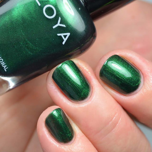 emerald metallic nail polish swatch