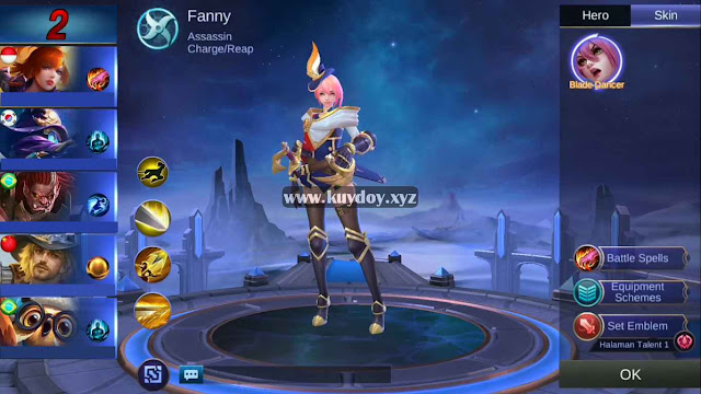 Script Skin Fanny Starlight Mobile Legends Patch Terbaru