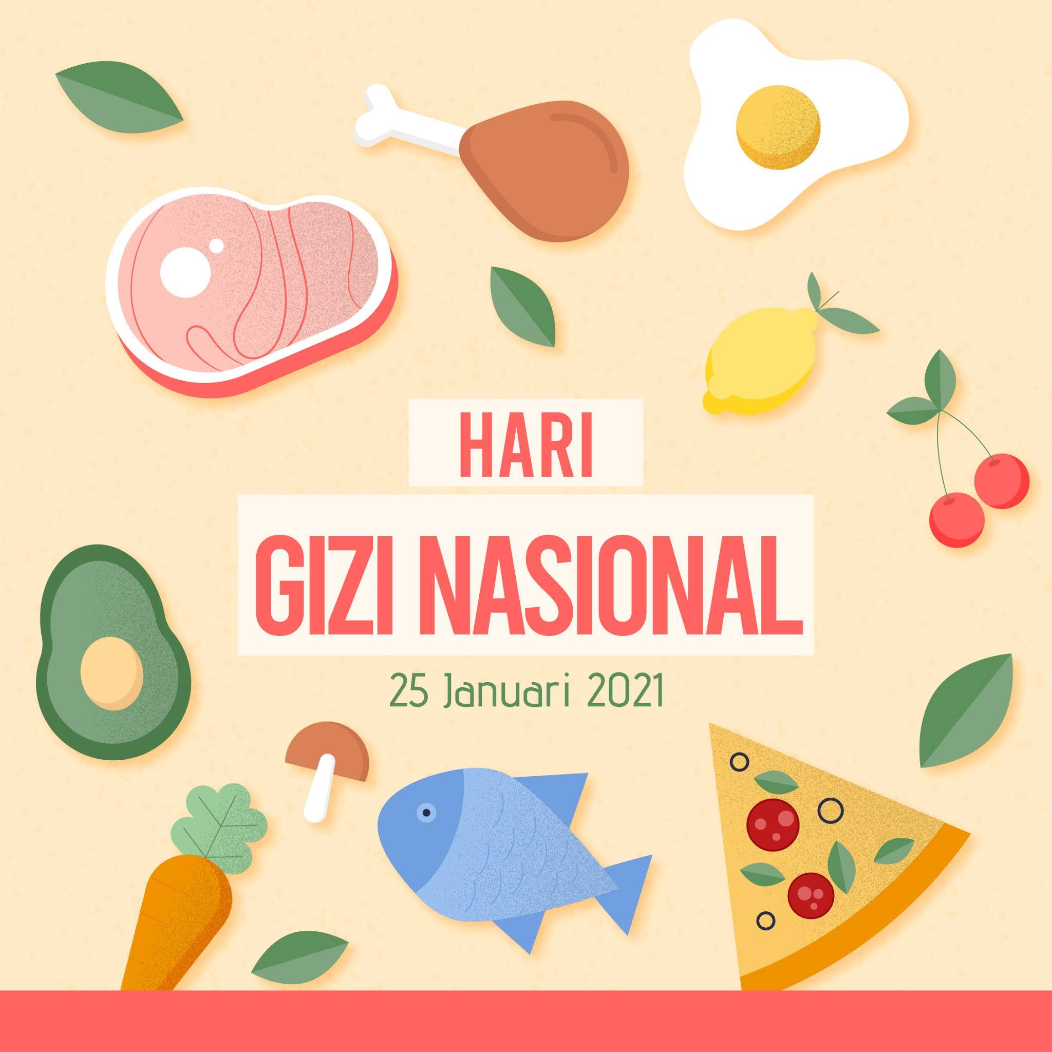 Kumpulan Gambar Desain Template Ucapan Selamat Hari Gizi Nasional