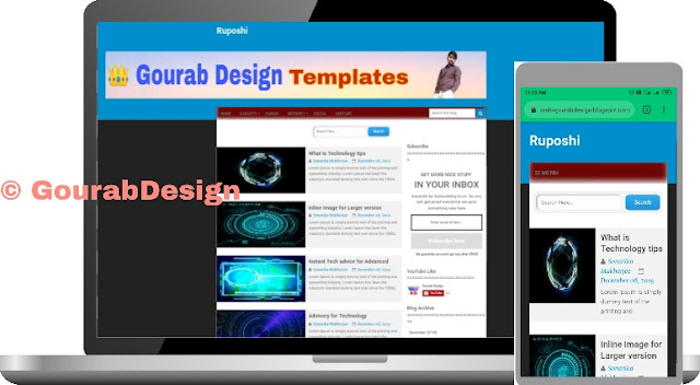 Ruposhi Blogger Template