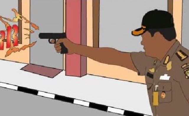 Polisi Tembak Perampok yang Bunuh Wanita Renta