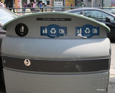 recycling bin, Toronto Canada