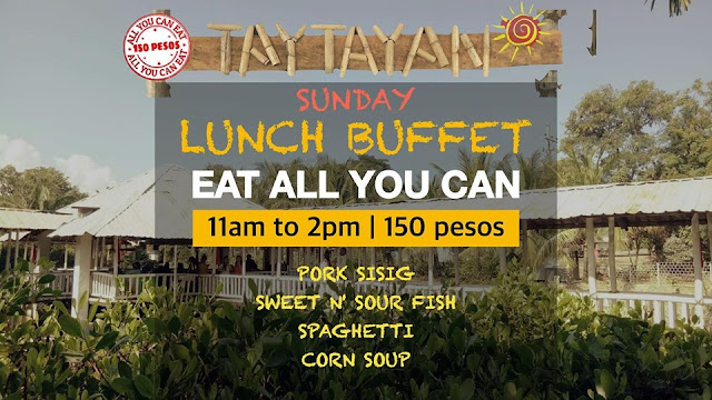 Taytayan Cordova Buffet Schedule for Lunch - Sundays 11am to 2pm