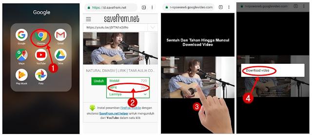 cara menyimpan video youtube di android tanpa aplikasi