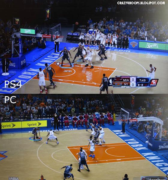 NBA 2k14 PC vs PS4 Comparison : Knicks vs Heat