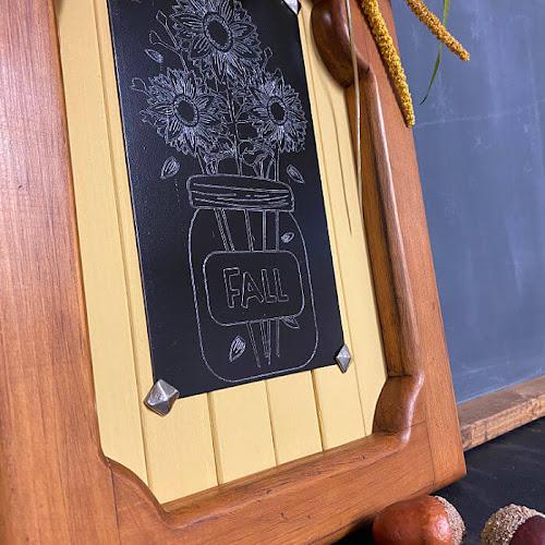 Engraved Sunflower Mason Jar Fall Wall Decor