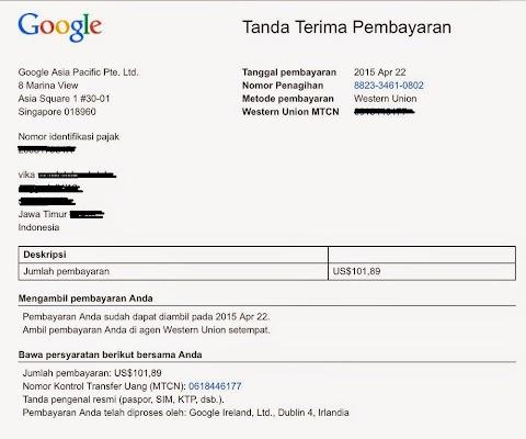 Cara Mencairkan Google Adsense Dengan Western Union di Kantor Pos