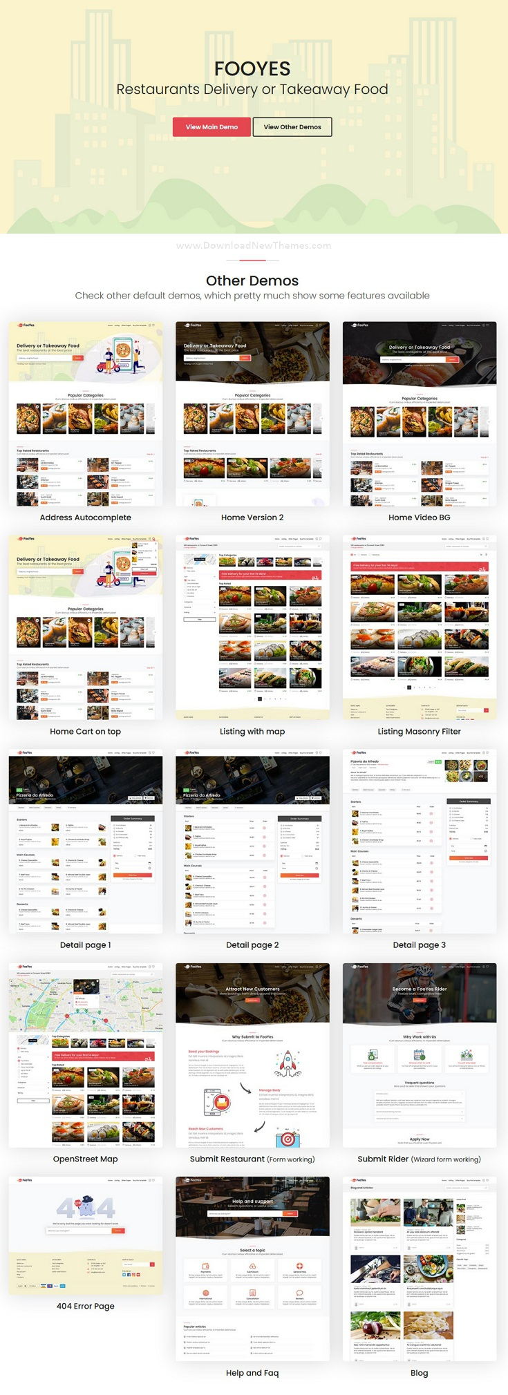 Delivery or Takeaway Food Site Template