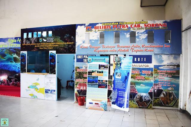 Caseta para pagar el permiso de Raja Ampat, Indonesia