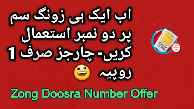 Zong double number - Zong Doosra Number Offer