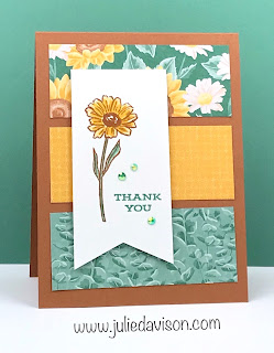 4 Vertical Triple Panel Cards with Stampin' Up! DSP ~ Flowers for Every Season Suite ~ Four Season Floral ~ www.juliedavison.com #stampinup