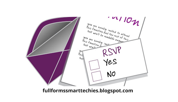 What is Full Form of RSVP