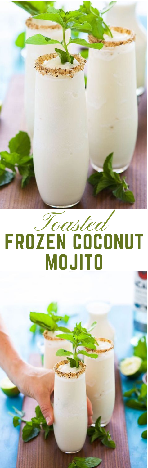 Toasted Frozen Coconut Mojito  #coconut #drink