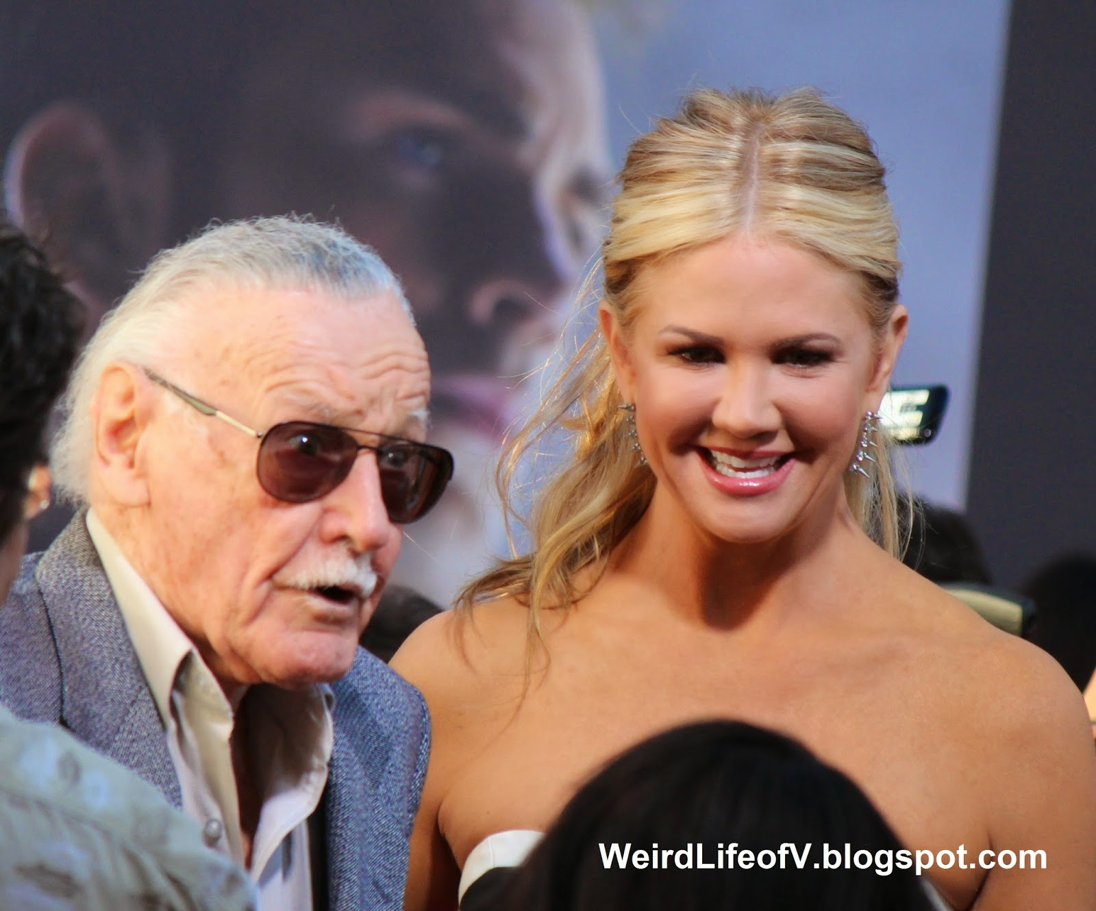 Stan Lee with Nancy O'Dell from Entertainment Tonight