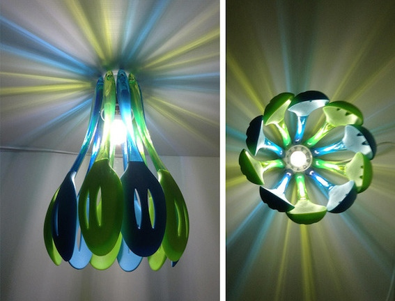 The Art Of Up-Cycling: Lampshades From Recycled Materials