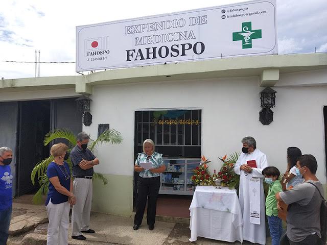 ¡SIGUE CRECIENDO!  FAHOSPO ABRIÓ UN EXPENDIO MEDICAMENTOS EN RÍO TOCUYO