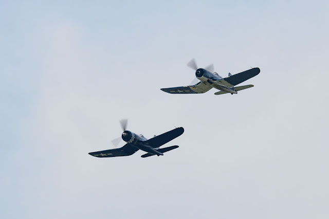 Goodyear FG-1D Corsairs during the Arsenal of Democracy Flyover