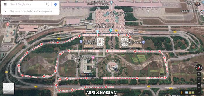 Lokasi Parking Motor di Kuala Lumpur International Airport (KLIA)