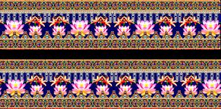 Flower Print Lehenga Choli Textile Digital Design Belt & Border 2739